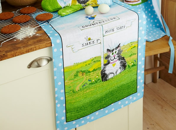 Ulster Weavers Countryside Cat Teatowel